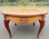 Marquetry Inlaid Brass Mounted Coffee Table